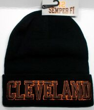 Cleveland Browns Team Color 3D Direct Embroidered Beanie Knit Cap hat!