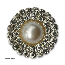 10 x Self Adhesive Double Round Pearl Wedding Invitation Cluster Brooch Buckle