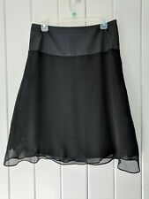 Moda International Black A-Line Chiffon Skirt Size 10