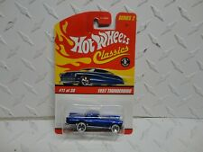 Hot Wheels Classics Series 2 #11 Blue 1957 Thunderbird