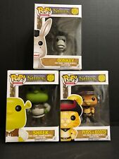 Funko Pop Shrek Complete Set - Shrek, Donkey, Puss In Boots Vaulted