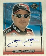 Jimmie Johnson 2001 WHEELS AUTHENTICS SIGNED EXCEDRIN NASCAR signed card CHAMP