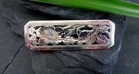 Edle Silber Brosche Jugendstil Art Deco Durchbruch Blume Floral Natur Organisch