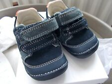 Clarks First Shoes Tiny Tom Navy Leather - (Size UK 2G)
