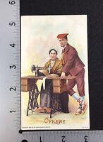 Singer sewing machine advertisg Cyrene 1890's Costume Series P109