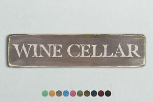 WINE CELLAR Vintage Style Wooden Sign. Shabby Chic Retro Home Gift
