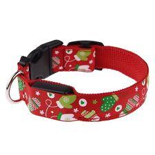 Adjustable Christmas LED Light Flashing Luminous Pet Dog Safety Collar Nylon