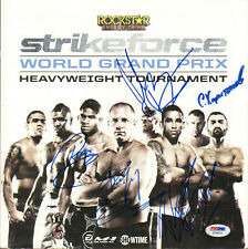 FEDOR EMELIANENKO SIGNED AUTO'D STRIKEFORCE PROGRAM PSA/DNA WERDUM OVEREEM +2
