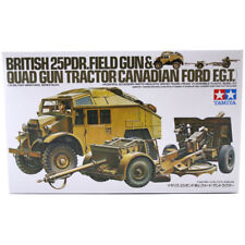 Tamiya British 25 PDR Field Gun & Quad Tractor Model Set (Scale 1:35) 35044 NEW