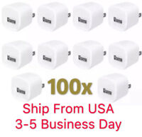Lot 100 X Wall Charger Power Adapter Excellent QUALITY Fits iPhone 4 s 5 s 6plus