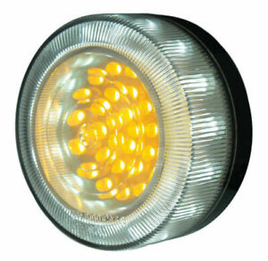 A PAIR OF LED FRONT INDICATOR PARK LAMP CLEAR AMBER for ARB TJM BULLBAR 12V