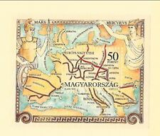 HUNGARY Sc 3412 NH issue of 1993 - SOUVENIR SHEET - OLD ROMAN MAPS