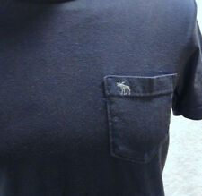 T-shirt blu ABERCROMBIE & FITCH Muscle Small S 100% cotone