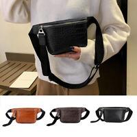 PU Leather Waist Fanny Pack Belt Bag Pouch Travel Hip Bum Bag Women Purse