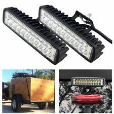 """2pcs 6"""" 40W Amber & White LED Work Light Bar Driving Fog Lamp Offroad ATV Truck"""