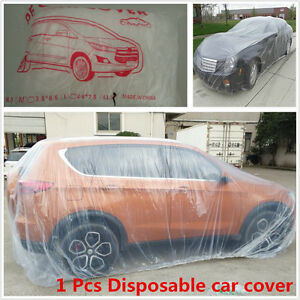 Clear Plastic Disposable Cover Dust Rain Snow Protection Cover For Car SUV Jeep
