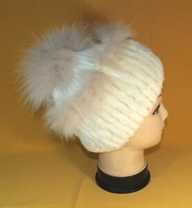 Natural andatra fur women winter hat