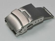 Sicherheitsfaltschließe 20mm Edelstahl gebürstet für Armbänder mit Dornschliesse