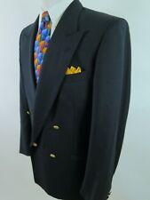 Valentino Uomo Wool Gold Buttons Blue Blazer Jacket Sport Coat 41 R EUC Italy