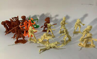 Vintage Hong Kong plastic toy Cowboy and Indians10 X Cowboys 13 X Indians 60/70s