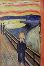Edvard Munch The Scream 1893, Quality Hand Painted Oil Painting, 24x36in