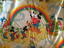 ~Vintage Disney Pacific Twin Fitted Mickey Mouse Rainbow Painting Sheet Bedding