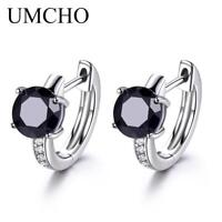 Sapphire Earrings For Women 100% Real 925 Sterling Silver Earrings Female