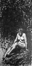 ORIGINAL VIRGIL FINLAY PEN AND INK DRAWING SIGNED 1937 NUDE PAINTING ART ILLO