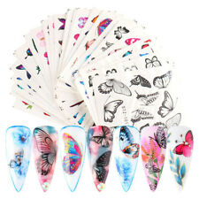 30 Pcs Nail Art Stickers Water Decals Butterfly Manicure Nail Foils Supplies