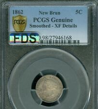 1862 NEW BRUNSWICK 5 CENTS PCGS EF-45 MAC FDS 1ST DIE STRIKE RARE