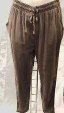 Ladies Blue Khaki Black Summer Drawstring Trousers 4 6 8 10 12 14 16 18 20