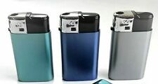 Pack of 3 CIGARETTE LIGHTERS WINDPROOF JET FLAME  GAS ELECTRONIC REFILLABLE KTWO