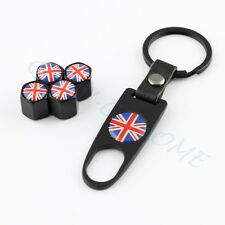 Car Truck Part Tyre Valve Stems Cap Cover Trim Key Chain For United Kingdom Flag