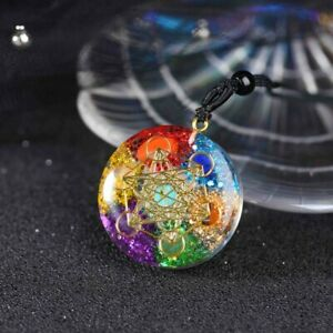 7 Chakra Natural Stone Energy Pendant Necklace Yoga Reiki Healing Amulet Gifts