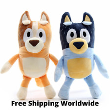 2PCS Pack Toys Figures TV Bluey and Bingo Puppy Plush Cartoon 11 Inch for Gift n