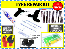 CAR VAN TYRE TIRE TUBELESS PUNCTURE REPAIR KIT WITH 15 STRIPS NEW + GLOVES 15-14