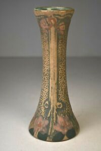 """Weller Luxor Bud Vase. 7.5"""" Tall. Multi-Colored. Circa 1910. Excellent"""