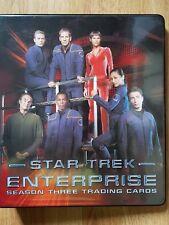 Star Trek Enterprise Season Three Trading Cards Binder, Costume Card Auto Cards