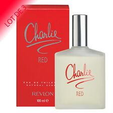 REVLON Parfum CHARLIE RED pour Femme Eau de Toilette 100 ml LOT DE 3
