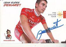 CYCLISME  carte cycliste JEAN EUDES DEMARET  équipe COFIDIS 2008 signée