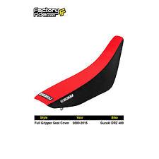 2000-2017 SUZUKI DRZ 400 Black/Red FULL GRIPPER SEAT COVER BY Enjoy MFG