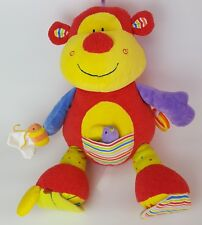 Mothercare Interactive Big Soft  Monkey Rattle Baby Plush Toy