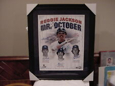 AWESOME Reggie Jackson Mr. October 1977 WS 3HRs W/Dodger Pitchers Auto'd Photo!!