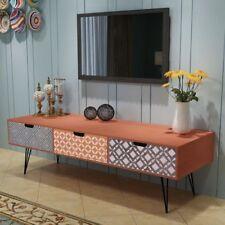 vidaXL Mueble TV con 3 Cajones Diseño Retro 120x40x36 cm Marrón/Gris Mesita