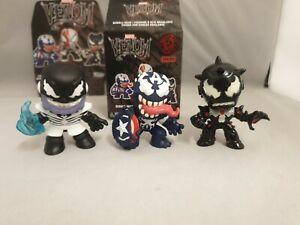 Funko Mini Mystery Figure Marvel Venom  Bundle of 3 Iron Man Captain America