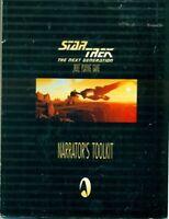 Star Trek TNG rpg Narrator's Toolkit pb book 1998 Last Unicorn isbn 1889533017