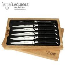 Laguiole en Aubrac - 6 französische Steakmesser - Ebenholz - Frankreich Messer