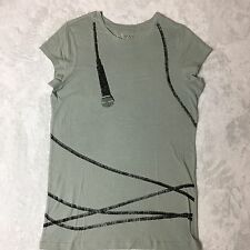 Miley Cyrus Max Azria T-Shirt Tee Top Cotton Mic Print Size Youth XL  Adult S