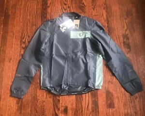 NWT$75 Mens Pearl Izumi Relaxed Fit Select Barrier Jacket Small Blue / Green