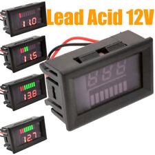 12v plomo y Ácido Batería Indicador INTUITIVO tensión de carga PANTALLA LED